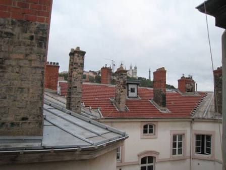 View from my Lyon apartment (if you look out the skylight about 1 meter above the floor!