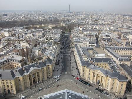View west from Pantheon cupola