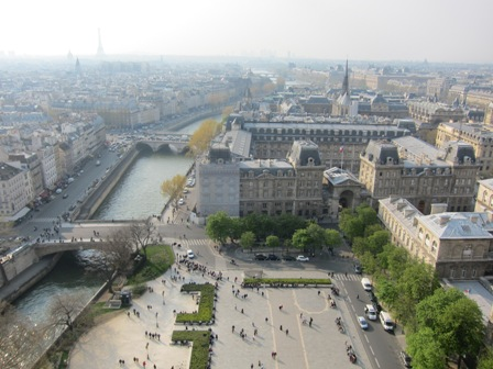 View from Notre Dame de Paris